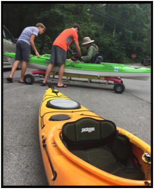 It take a lot of work to get quad Uncle Mike ready for kayaking, but the rewards are worth it.